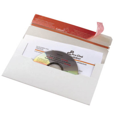 CD/DVD-Versandtasche 121x220 mm ohne Fenster Vollpappe 20 Stück