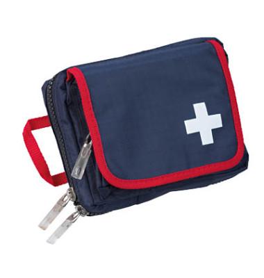 Verbandtasche Travel blau/rot gefüllt 27-teilig