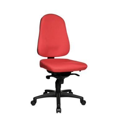 Bürodrehstuhl Body Balance 50 ohne Armlehnen rot