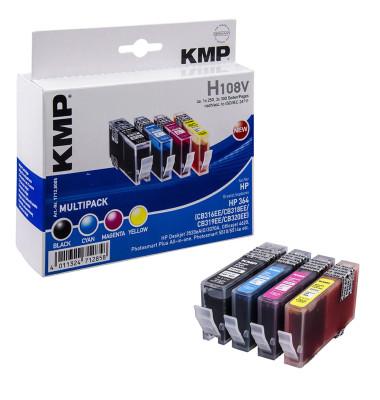 Tintenpatronen schwarz, cyan, magenta, gelb ersetzt HP 364