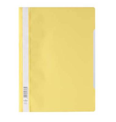 Schnellhefter 9792573 A4 gelb PP Kunststoff kaufmännische Heftung bis 150 Blatt 10 Stück