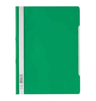 Schnellhefter 9792573 A4 grün PP Kunststoff kaufmännische Heftung bis 150 Blatt 10 Stück