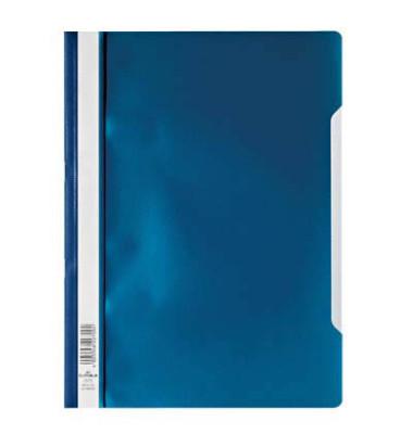 Schnellhefter 9792573 A4 dunkelblau PP Kunststoff kaufmännische Heftung bis 150 Blatt 10 Stück