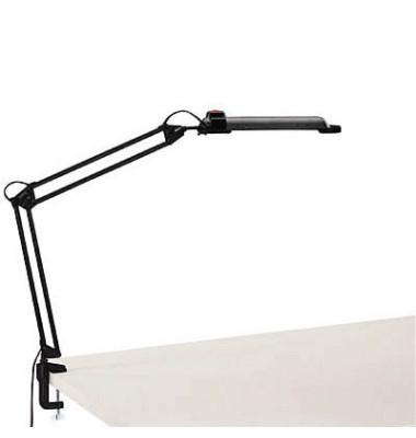 Schreibtischlampe MAULatlantic 821 35 90, Energiesparlampe, mit Tischklemme, schwarz