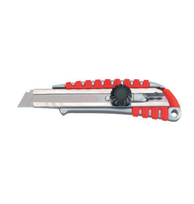 Cutter Profi Plus silber/rot 18mm Klinge