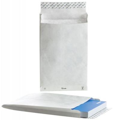 Faltentaschen B4 ohne Fenster 38mm Falte haftklebend 70g weiß 100 StückTyvek