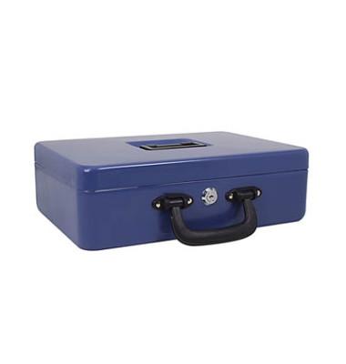 Geldkassette blau 30,0 x 24,0 x 9,0 cm