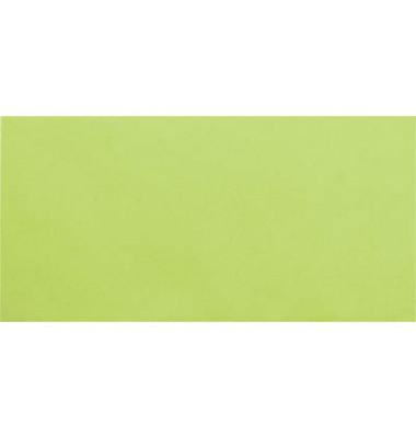 Designbriefumschläge Din Lang+ EcoRainbow ohne Fenster haftklebend 80g leuchtgrün 25 Stück