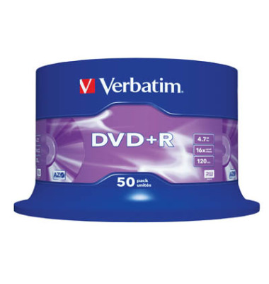 DVD+R 4,7Gb 16X 50Er Spindel