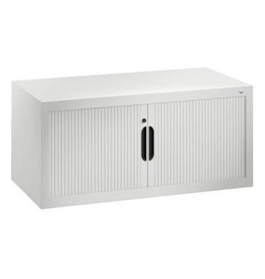 Aufsatzaktenschrank 3262-00, Kunststoff/Stahl abschließbar, 100 x 45 x 42 cm, keine Fachböden, lichtgrau