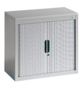 Aktenschrank 3251-00, Kunststoff/Stahl abschließbar, 2 OH, 80 x 72 x 42 cm, lichtgrau