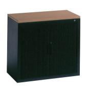 Aktenschrank 3251-00, Kunststoff/Stahl abschließbar, 2 OH, 80 x 72 x 42 cm, anthrazit