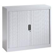 Aktenschrank 3242-00, Kunststoff/Stahl abschließbar, 3 OH, 100 x 103 x 42 cm, lichtgrau