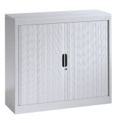 Aktenschrank 3243-00, Kunststoff/Stahl abschließbar, 3 OH, 120 x 103 x 42 cm, lichtgrau