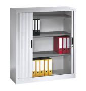 Aktenschrank 3233-00, Kunststoff/Stahl abschließbar, 3 OH, 120 x 123 x 42 cm, lichtgrau