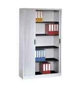 Aktenschrank 3202-00, Kunststoff/Stahl abschließbar, 5 OH, 100 x 198 x 42 cm, lichtgrau