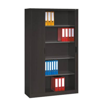 Aktenschrank 3202-00, Kunststoff/Stahl abschließbar, 5 OH, 100 x 198 x 42 cm, anthrazit