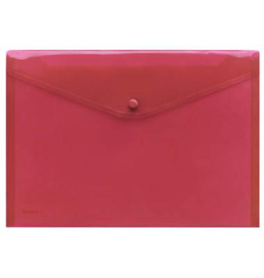 Dokumententasche 40111 A4 rot/transparent 10 Stück