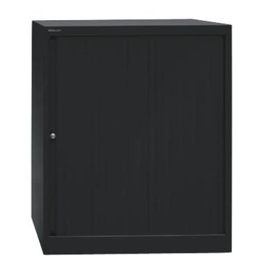 Aktenschrank EuroTambours™ PLUS ET408102S5433, Kunststoff/Stahl abschließbar, 2,5 OH, 80 x 103 x 43 cm, schwarz