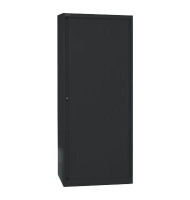 Aktenschrank EuroTambours™ PLUS ET408194S5433, Kunststoff/Stahl abschließbar, 5 OH, 80 x 198 x 43 cm, schwarz