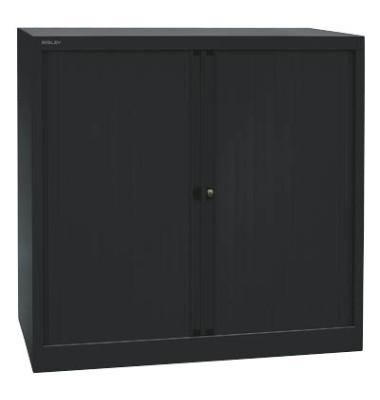 Aktenschrank EuroTambours™ PLUS ET410102S5433, Kunststoff/Stahl abschließbar, 2,5 OH, 100 x 103 x 43 cm, schwarz