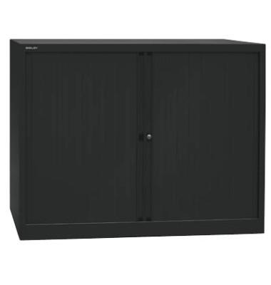 Aktenschrank EuroTambours™ PLUS ET412102S5433, Kunststoff/Stahl abschließbar, 2,5 OH, 120 x 103 x 43 cm, schwarz