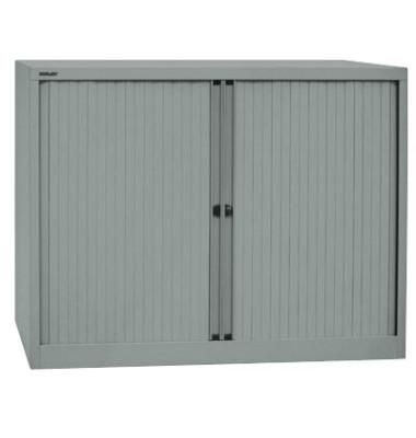 Aktenschrank EuroTambours™ PLUS ET412102SSL855, Kunststoff/Stahl abschließbar, 2,5 OH, 120 x 103 x 43 cm, silber