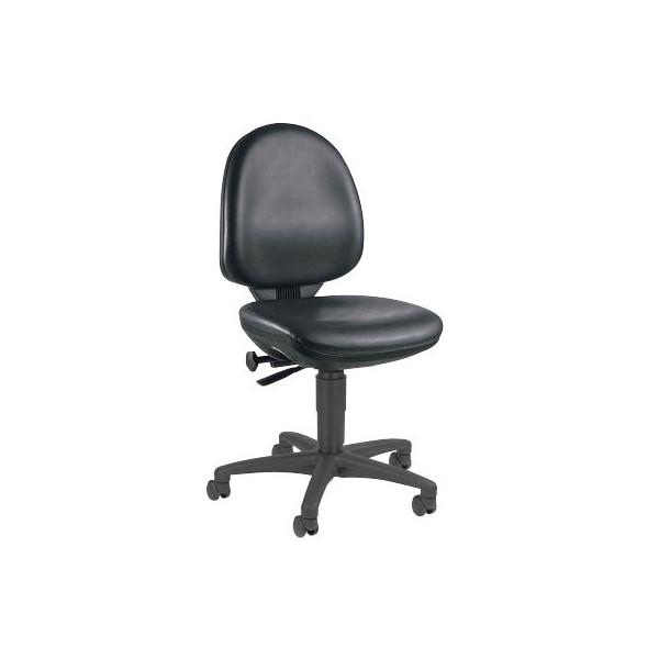 topstar arbeitsdrehstuhl tec 50 mit doppelrollen f r weiche b den schwarz. Black Bedroom Furniture Sets. Home Design Ideas