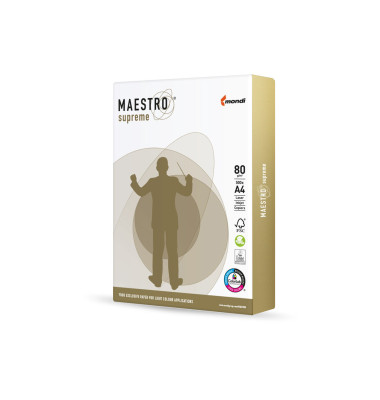 Kopierpapier Maestro Supreme A4 1 Palette 100000 Blatt