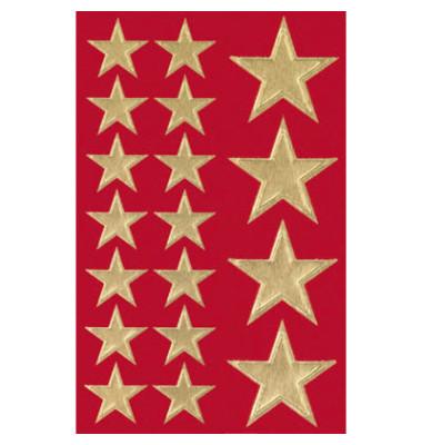 Aufkleber Big golden Stars 1 Pack   54 Stück