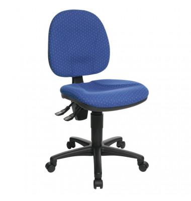Bürodrehstuhl Point 10 ohne Armlehnen blau gemustert