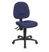 Bürodrehstuhl Point 10 ohne Armlehnen blau