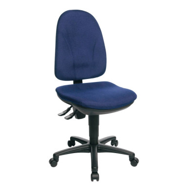 Bürodrehstuhl Point 30 ohne Armlehnen blau