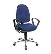 Bürodrehstuhl Steel Point 30 mit Armlehnen blau