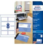 C32015-10 Visitenkarten weiß matt 85 x 54 mm 260g 80 Stück