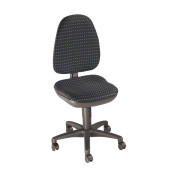 Bürodrehstuhl Point 30 ohne Armlehnen blau/schwarz