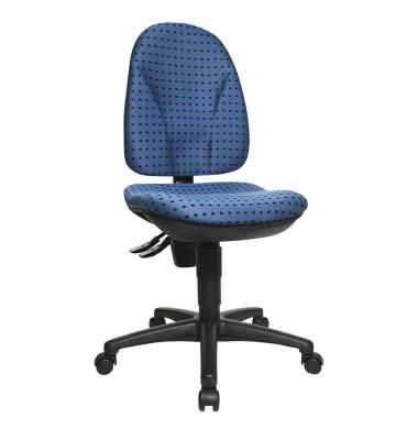 Bürodrehstuhl Point 30 ohne Armlehnen blau/schwarz gemustert