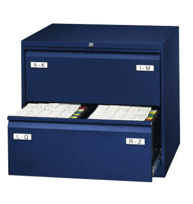LIGHT Hängeregistraturschrank 80,0 x 62,2 x 71,1 cm 2 Schubfächer blau  CDF2639
