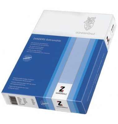 zanders gohrsm hle briefpapier a4 100g wei mit wasserzeichen 200 blatt. Black Bedroom Furniture Sets. Home Design Ideas