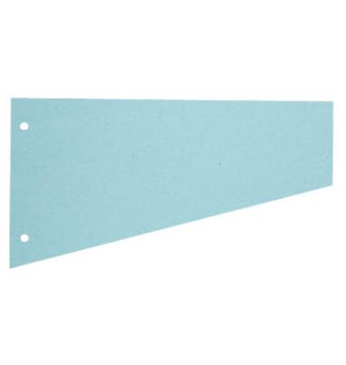 Trennstreifen 1083 Trapez blau 190g gelocht 230x120mm 100 Blatt
