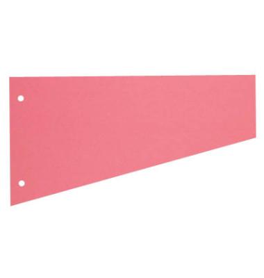 Trennstreifen 1083 Trapez rosa 190g gelocht 230x120mm 100 Blatt