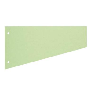Trennstreifen 1083 Trapez grün 190g gelocht 230x120mm 100 Blatt