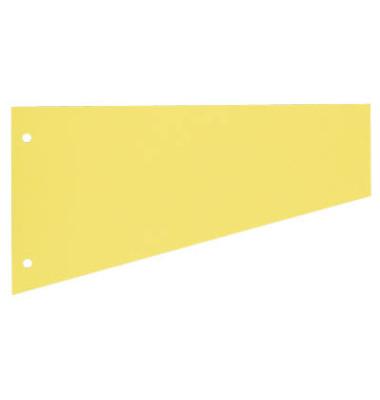 Trennstreifen 1083 Trapez gelb 190g gelocht 230x120mm 100 Blatt