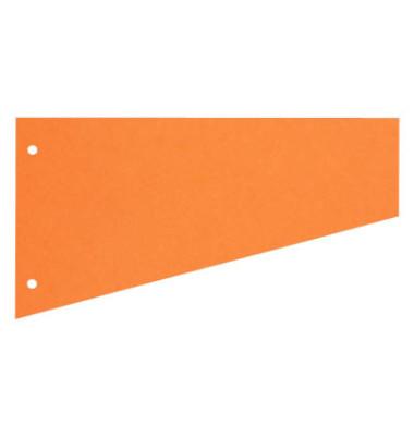 Trennstreifen 1083 Trapez orange 190g gelocht 230x120mm 100 Blatt