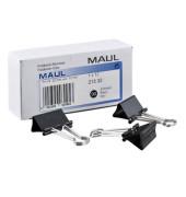 Foldbackklammern 213 32 90, 32mm, Metall schwarz, 12 Stück