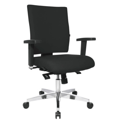 Bürodrehstuhl Lightstar 10 ohne Armlehnen schwarz