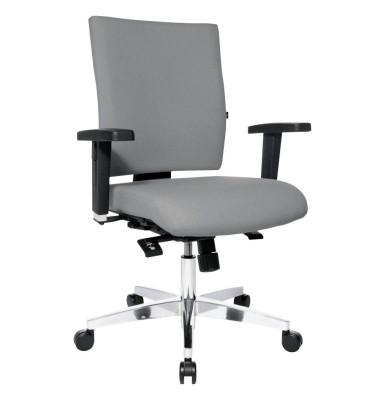 Bürodrehstuhl Lightstar 10 ohne Armlehnen grau