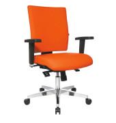 Bürodrehstuhl Lightstar 10 ohne Armlehnen orange
