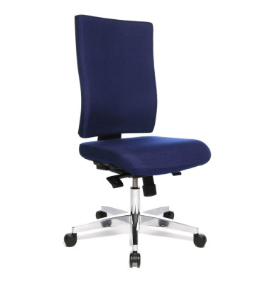 Bürodrehstuhl Lightstar 20 ohne Armlehnen royalblau