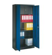 Aktenschrank 9260-100, Stahl abschließbar, 4 OH, 93 x 195 x 40 cm, blau/anthrazit